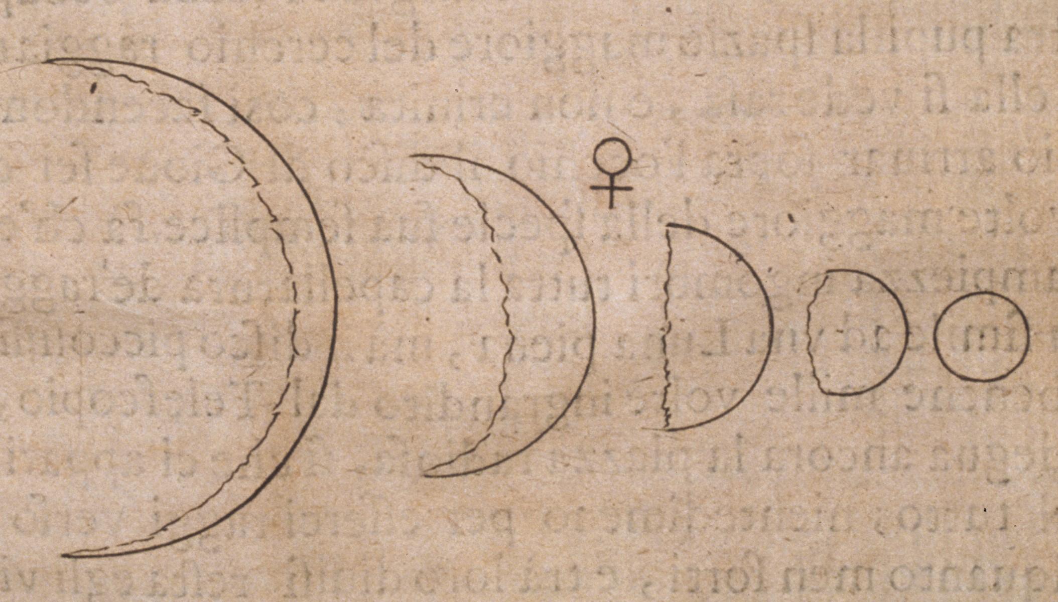 Der italienische Astronom beobachtete und skizzierte als Erster die Phasen der Venus mit einem Teleskop.